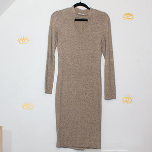 Acemi Sweater Dress w/ Cutout Oatmeal Size Medium